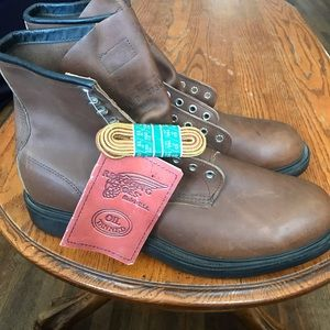Red wing boots made in U.S.A